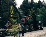 Abladen in Holland - zwei Tieflader und ein LKW waren beim Umsetzen nötig